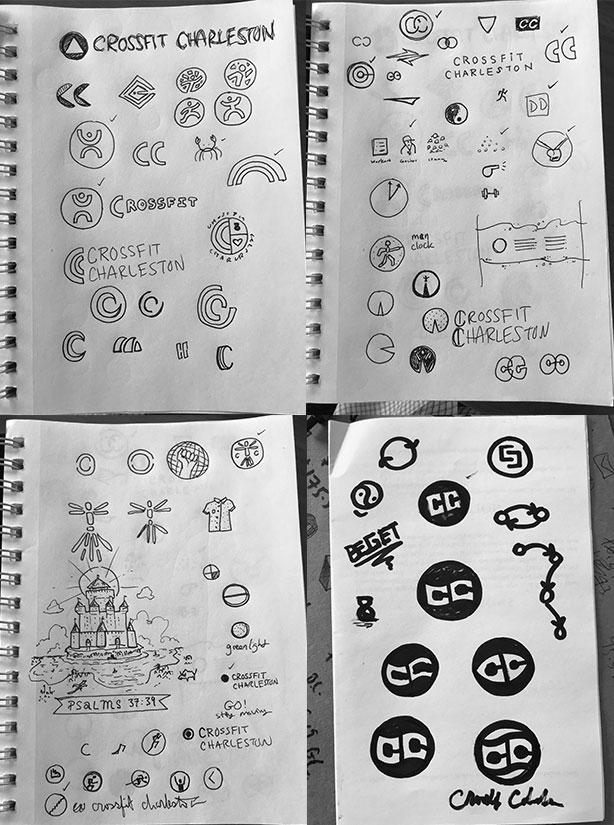 sketchbook sketches of crossfit logo