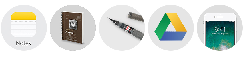 5 tools depicted
