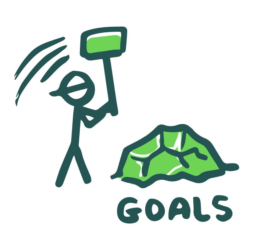 stick figure smashing goals